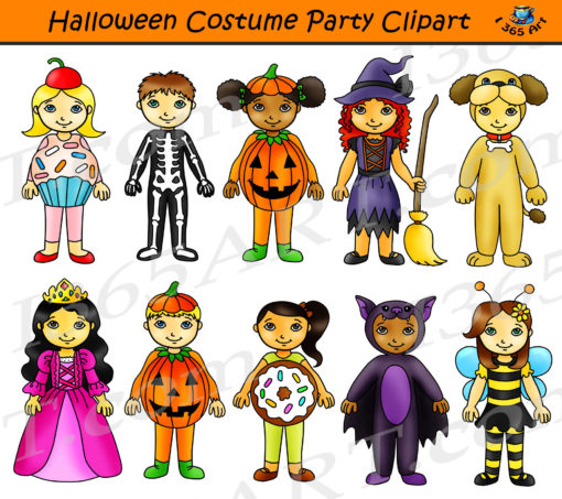 Halloween Costume Party Clipart