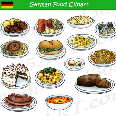 German Food Clipart
