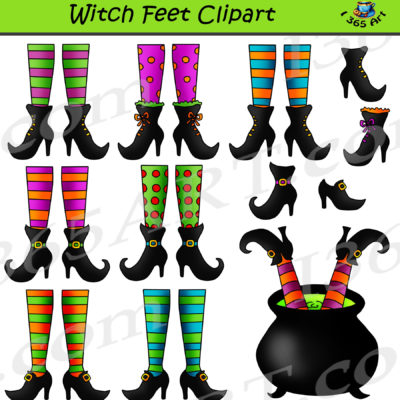witch feet clipart