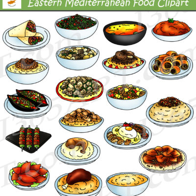 eastern mediterranean food clipart