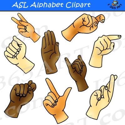asl alphabet clipart