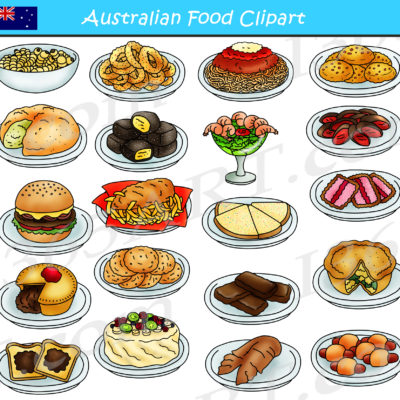 australian food clipart