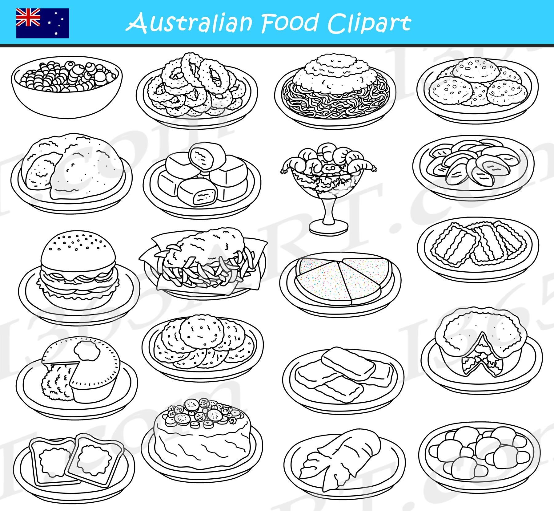 Australian Food Clipart Graphics Download
