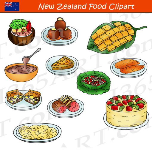 new zealand food clipart