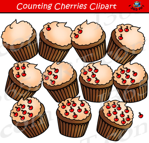 counting cherries clipart