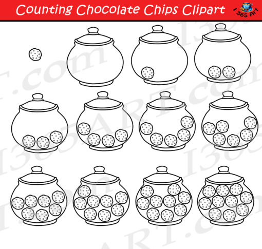 counting cookies clipart black and white