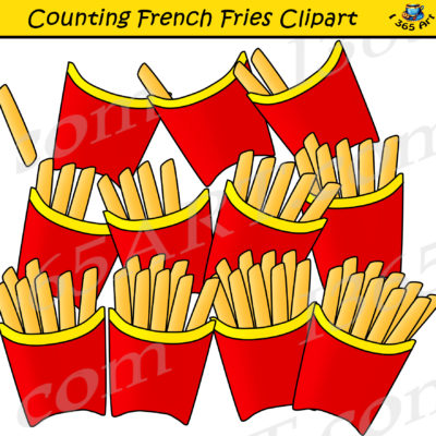 counting french fries clipart