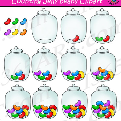 counting jelly beans clipart