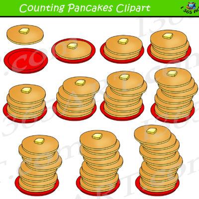 counting pancakes clipart