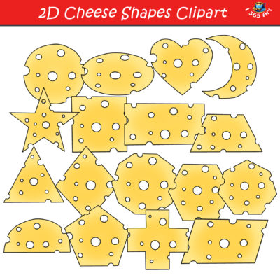 2D cheese shapes