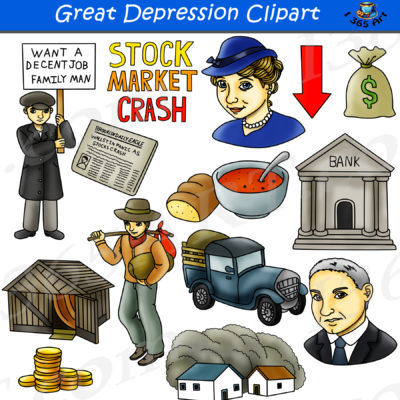 great depression clipart