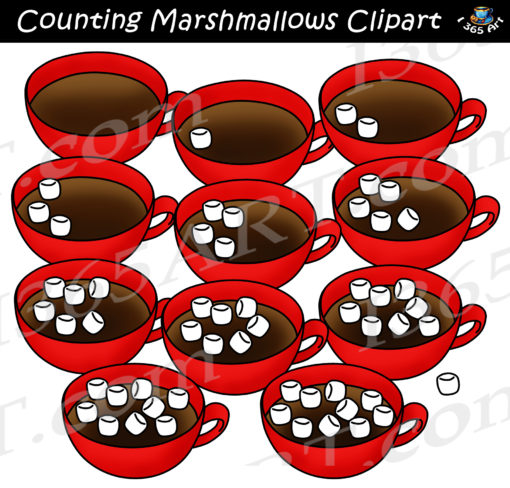 counting marshmallows clipart