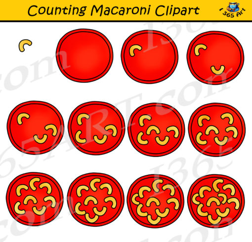 counting macaroni clipart