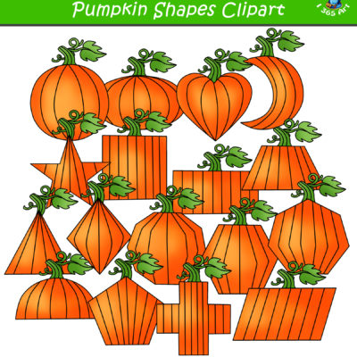 2d pumpkin shapes clipart