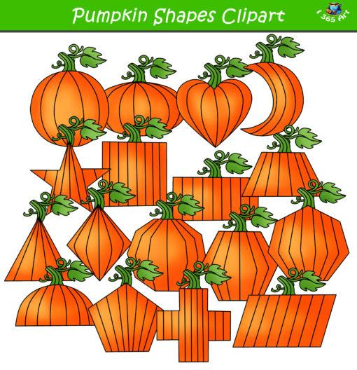 2d pumpkin shapes clipart