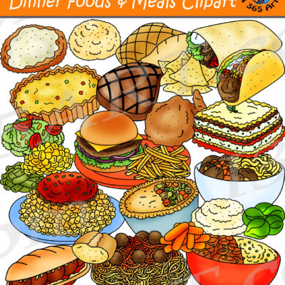 Dinner foods clipart