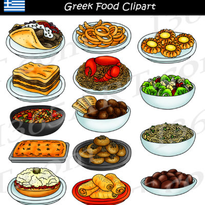 Greek food clipart