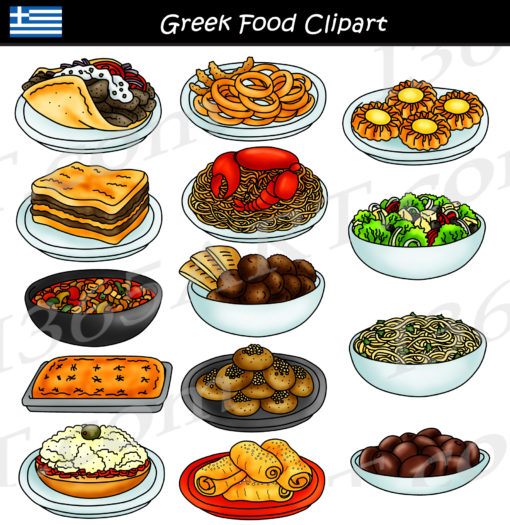 Greek food clipart