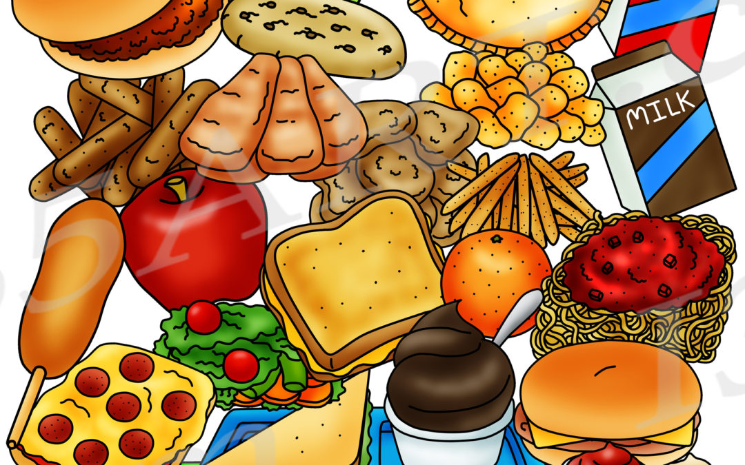 Cafeteria Food Clipart Graphics Set – Build A Lunch Tray