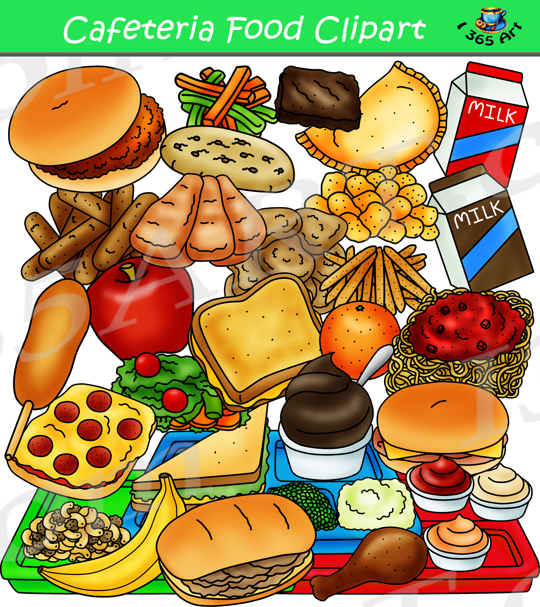 food clipart cafeteria lunch tray graphics build