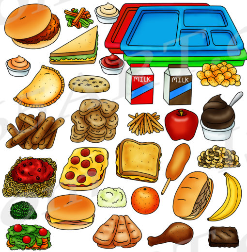 Cafeteria food clipart preview