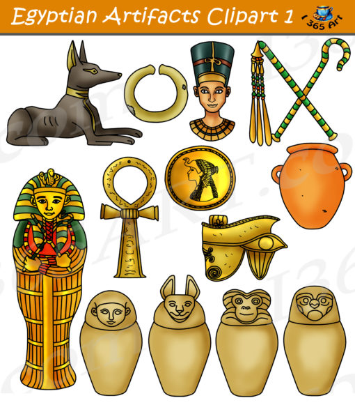 Egyptian artifacts clipart