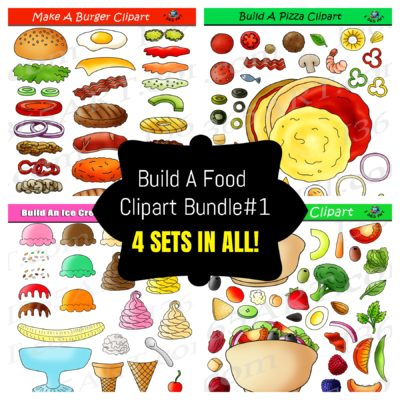 Build a food clipart bundle