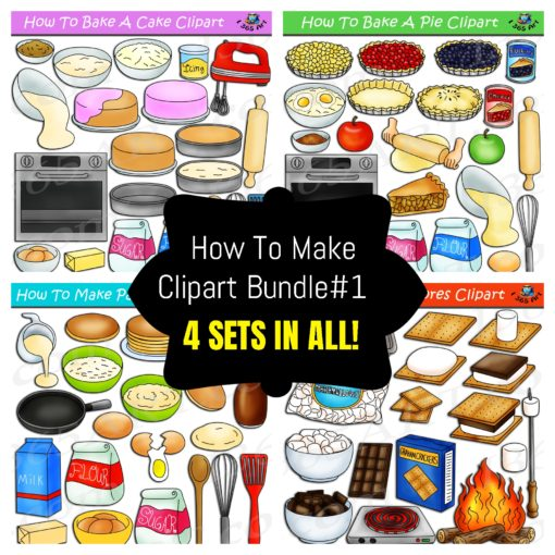 How to make foods clipart bundle