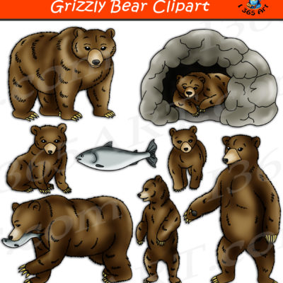 Grizzly Bear clipart