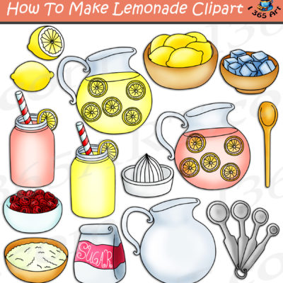 How to make lemonade clipart