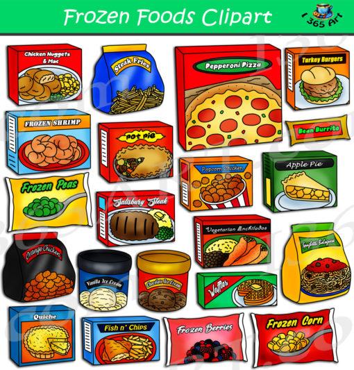 Frozen foods clipart