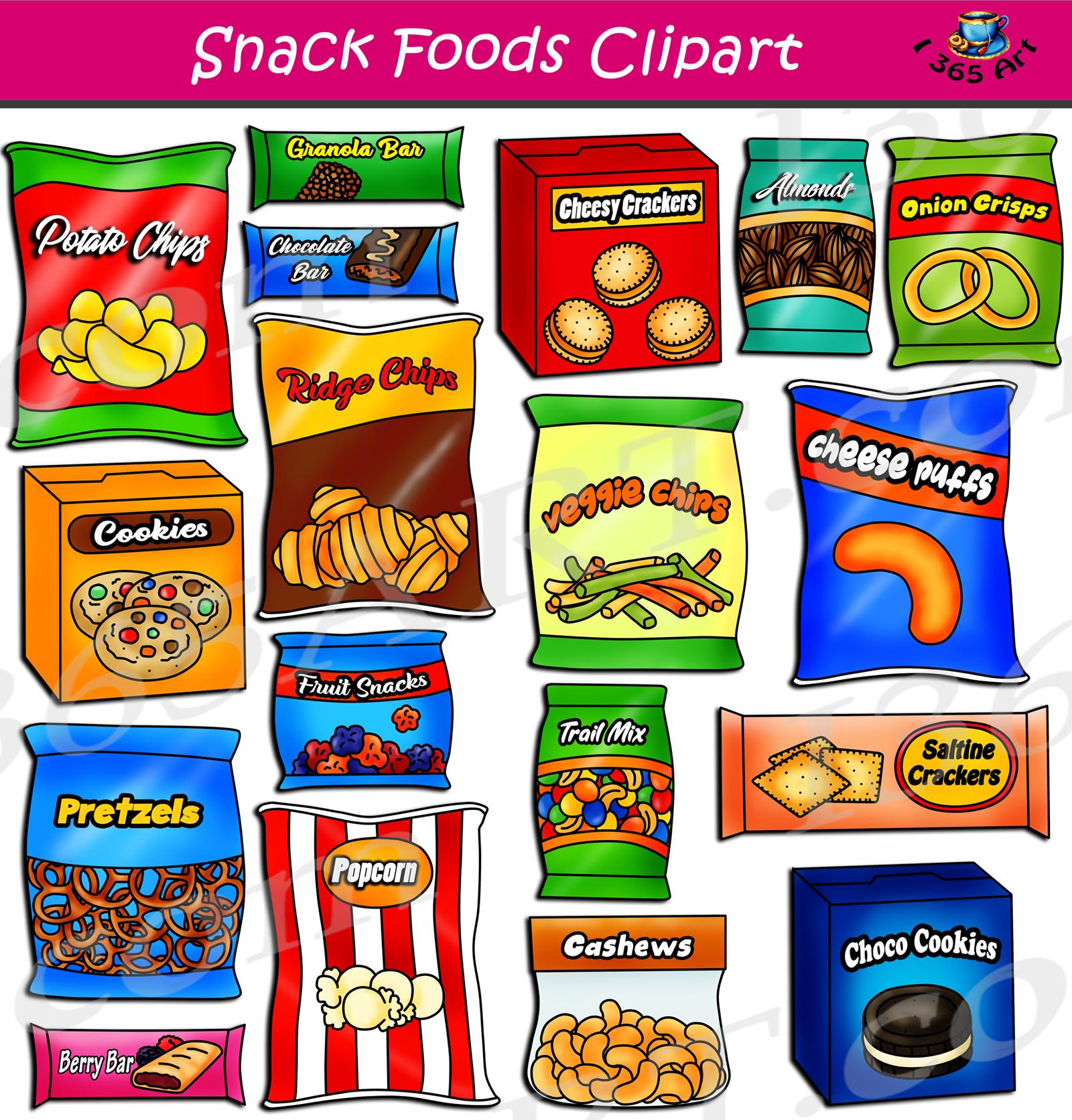 Snack Foods Clipart Set Download | Clipart 4 School