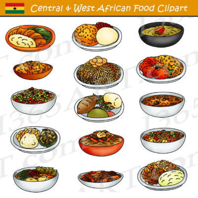 Central and Western African Food Clipart