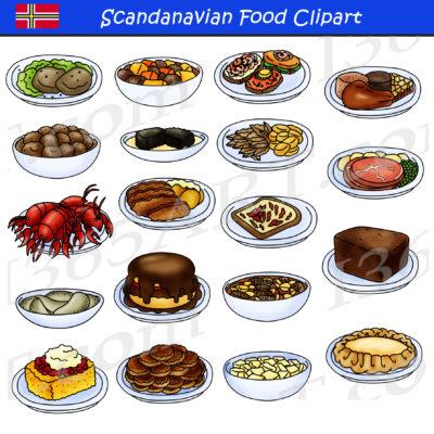 Scandinavian Food Clipart
