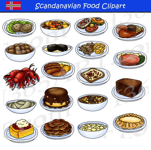 Scandinavian Food Clipart