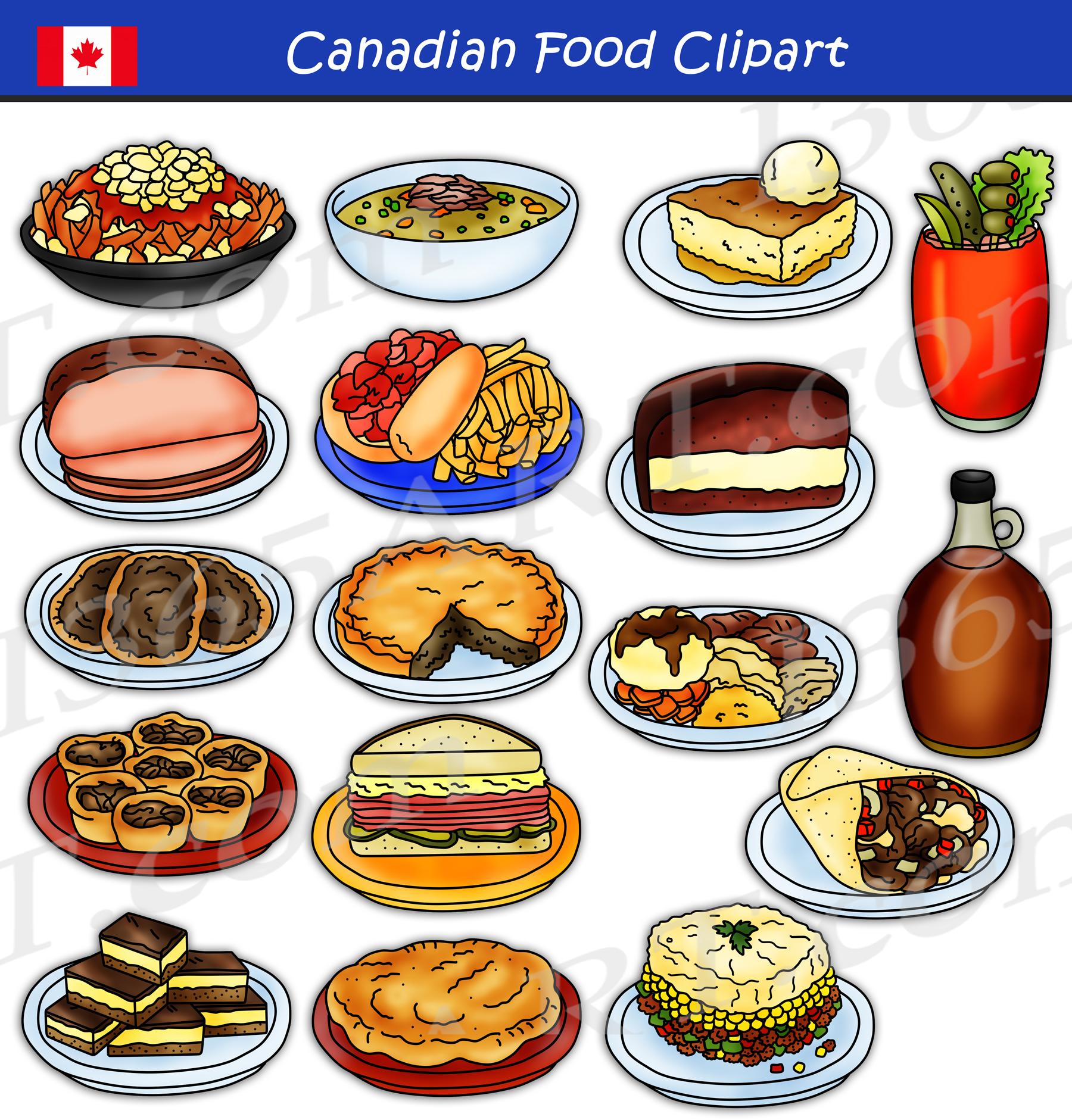 Canadian Food Clipart Set Download Clipart 4 School