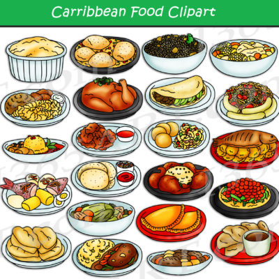 Central American & Caribbean Food Clipart