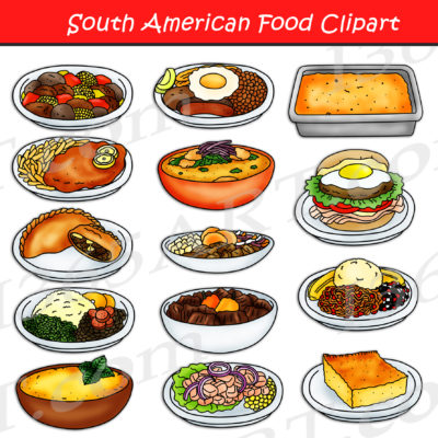South American Food Clipart