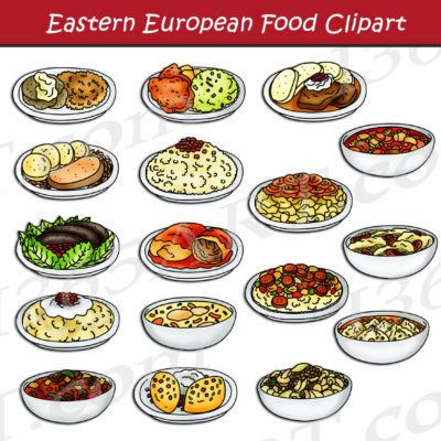 Eastern European Food Clipart