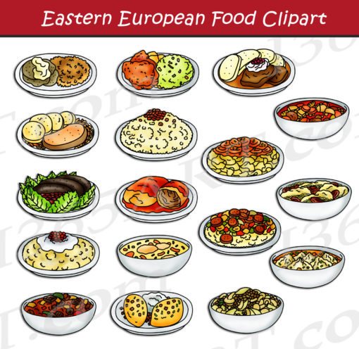 Eastern European Food Clipart