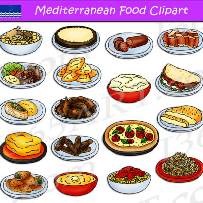 Mediterranean Food Clipart