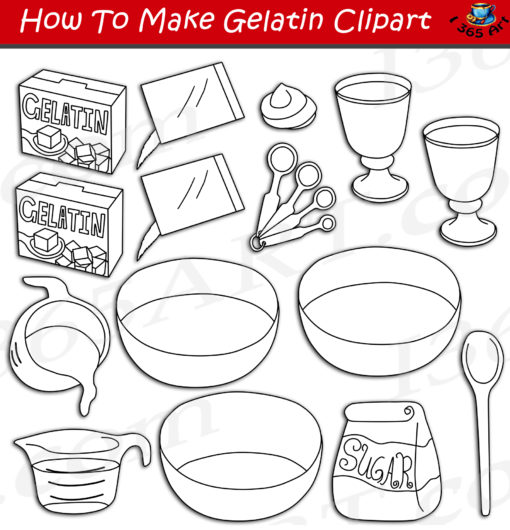 How to make an gelatin clipart