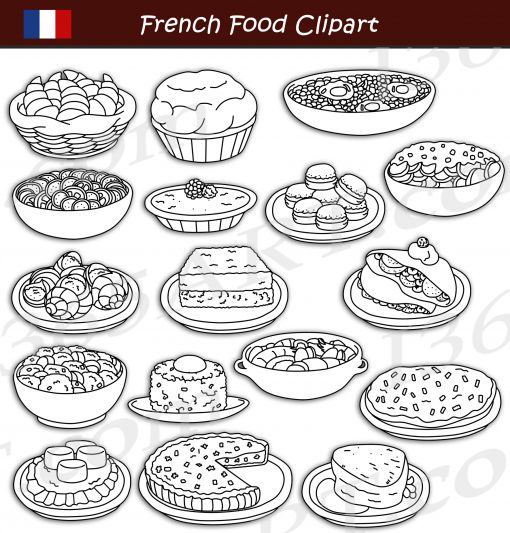 French Food Clipart