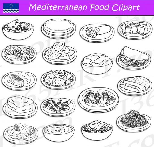 Mediterranean Food Clipart