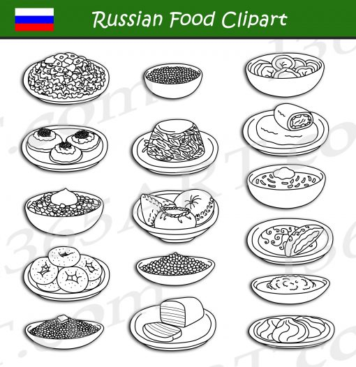 Russian Food Clipart