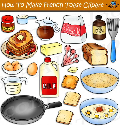 How To Make French Toast Clipart