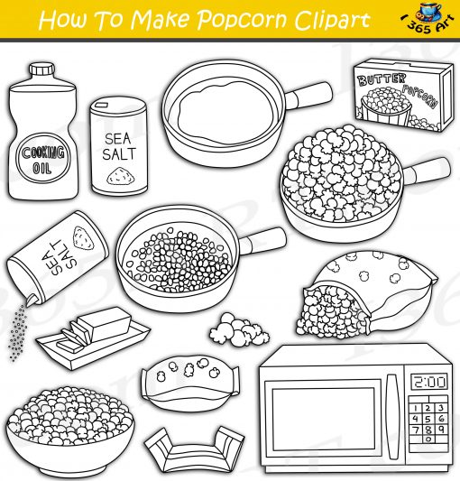 How To Make Popcorn Clipart