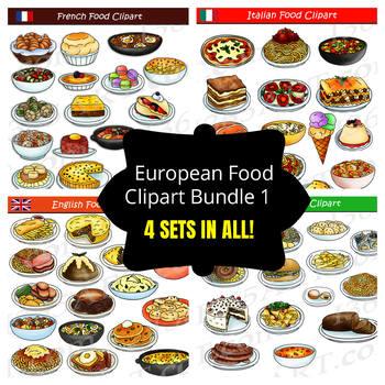 European Food Clipart Bundle