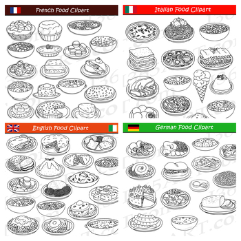 European Food Clipart Bundle