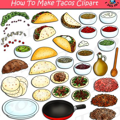 HHow To Make Tacos Clipart